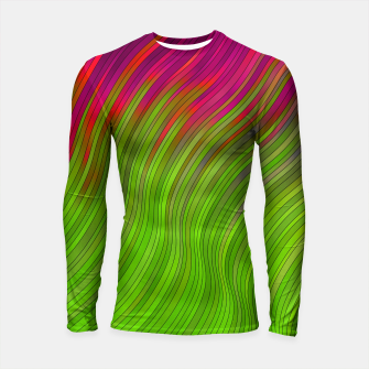 Miniatur stripes wave pattern 2 with lines vw81i Longsleeve rashguard , Live Heroes