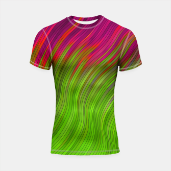 Miniatur stripes wave pattern 2 with lines vw81i Shortsleeve rashguard, Live Heroes