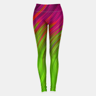 stripes wave pattern 2 with lines vw81i Leggings miniature