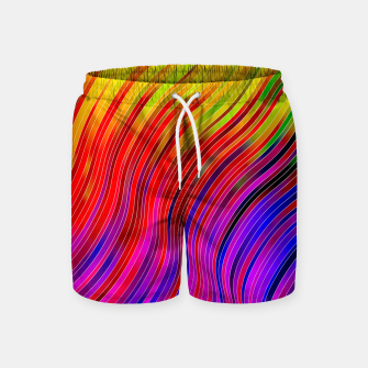 stripes wave pattern 2 with lines vtg Swim Shorts Bild der Miniatur