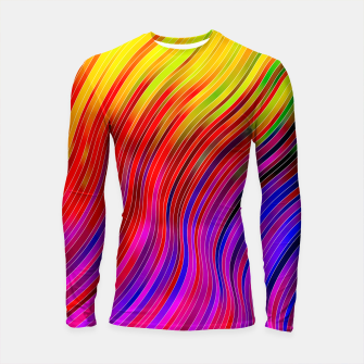 stripes wave pattern 2 with lines vtg Longsleeve rashguard  Bild der Miniatur