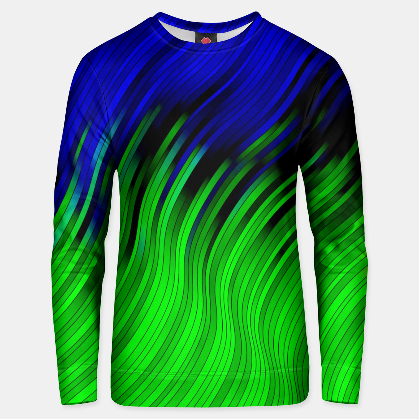 Foto stripes wave pattern 2 with lines vtgi Unisex sweater - Live Heroes