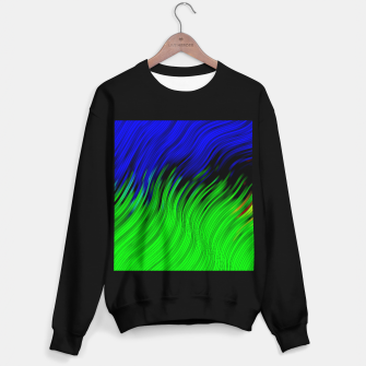 stripes wave pattern 2 with lines vtgi Sweater regular Bild der Miniatur