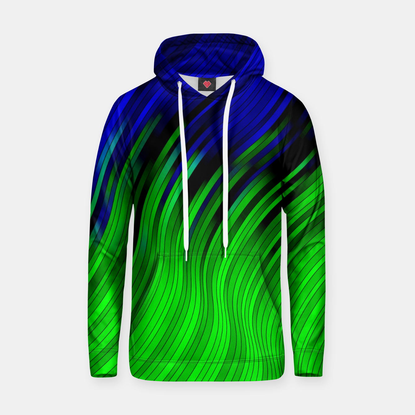 Foto stripes wave pattern 2 with lines vtgi Hoodie - Live Heroes