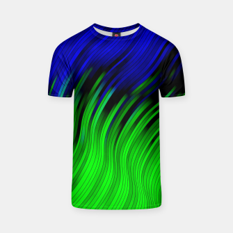 stripes wave pattern 2 with lines vtgi T-shirt Bild der Miniatur