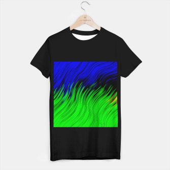 stripes wave pattern 2 with lines vtgi T-shirt regular Bild der Miniatur
