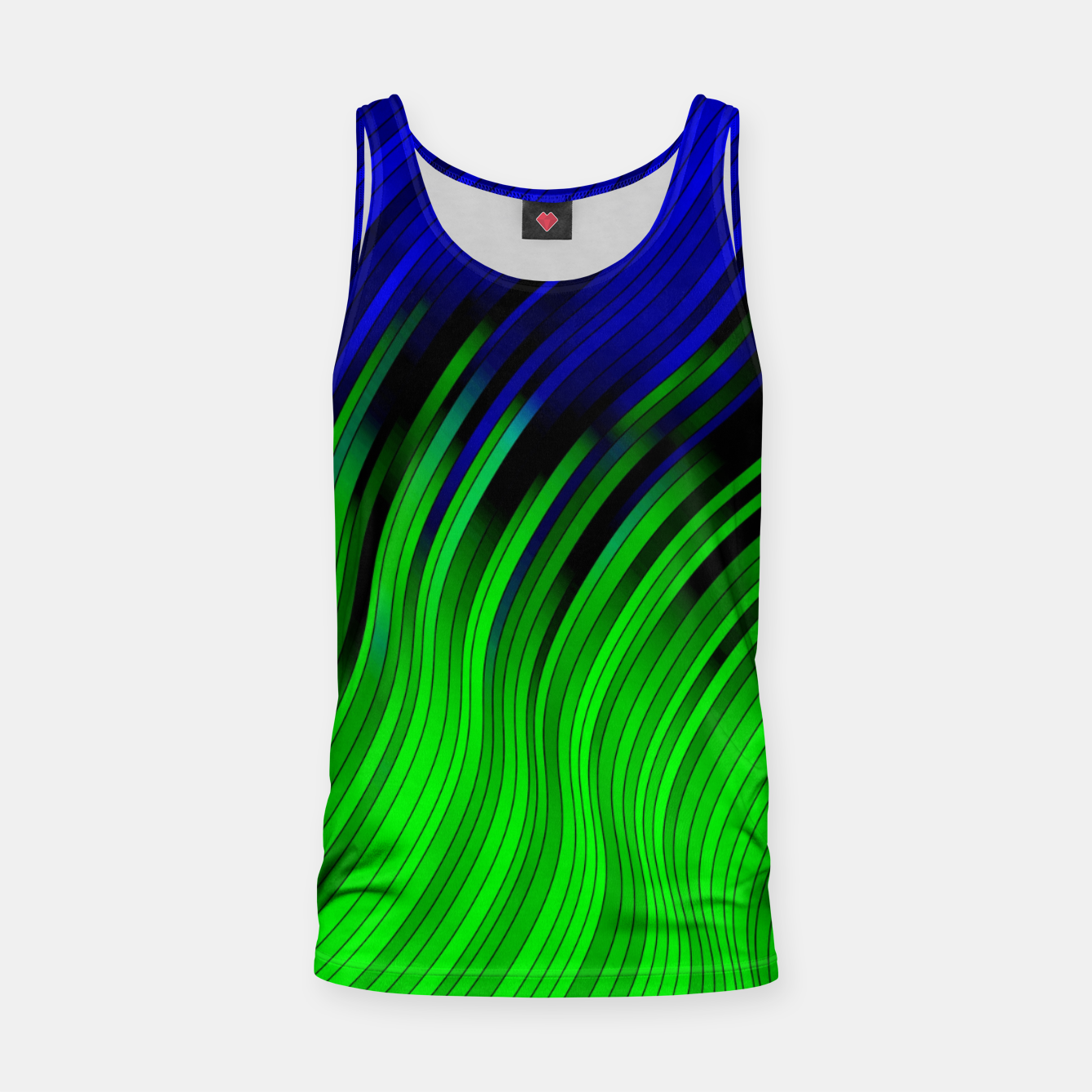 Foto stripes wave pattern 2 with lines vtgi Tank Top - Live Heroes