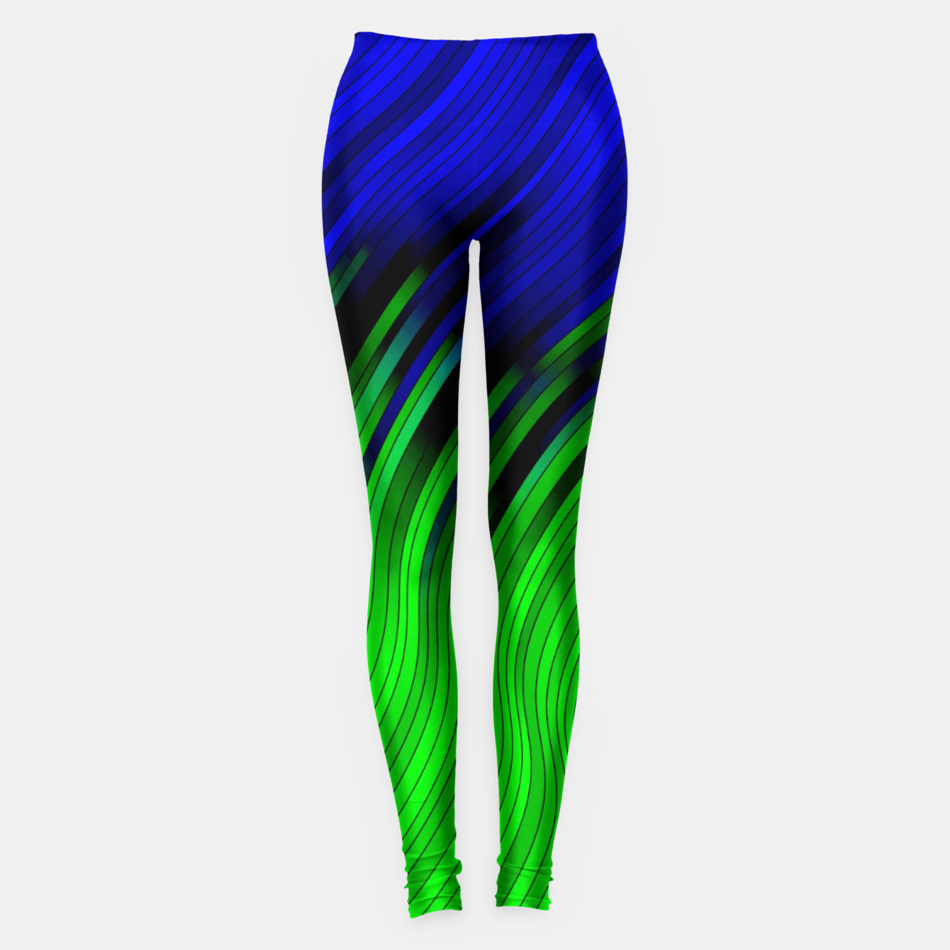 Foto stripes wave pattern 2 with lines vtgi Leggings - Live Heroes