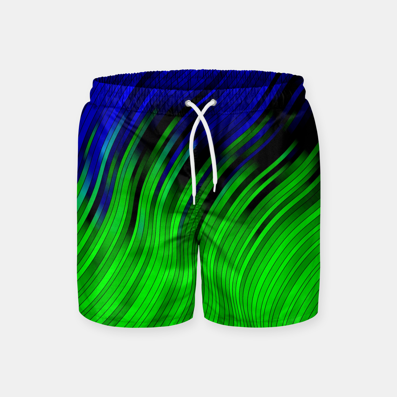 Foto stripes wave pattern 2 with lines vtgi Swim Shorts - Live Heroes