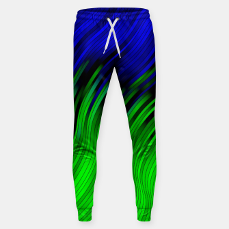 stripes wave pattern 2 with lines vtgi Sweatpants Bild der Miniatur