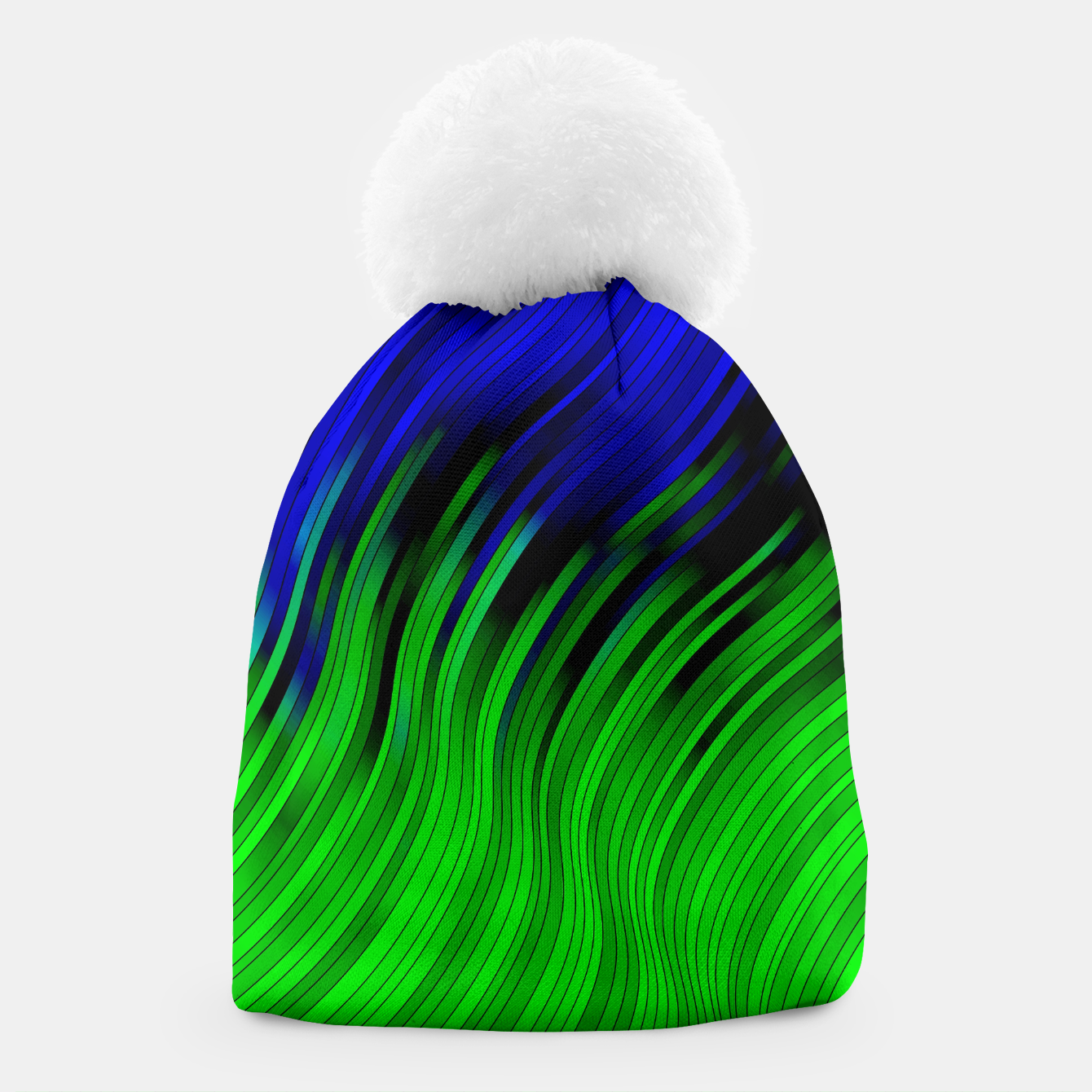 Foto stripes wave pattern 2 with lines vtgi Beanie - Live Heroes