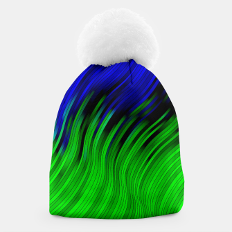 stripes wave pattern 2 with lines vtgi Beanie Bild der Miniatur