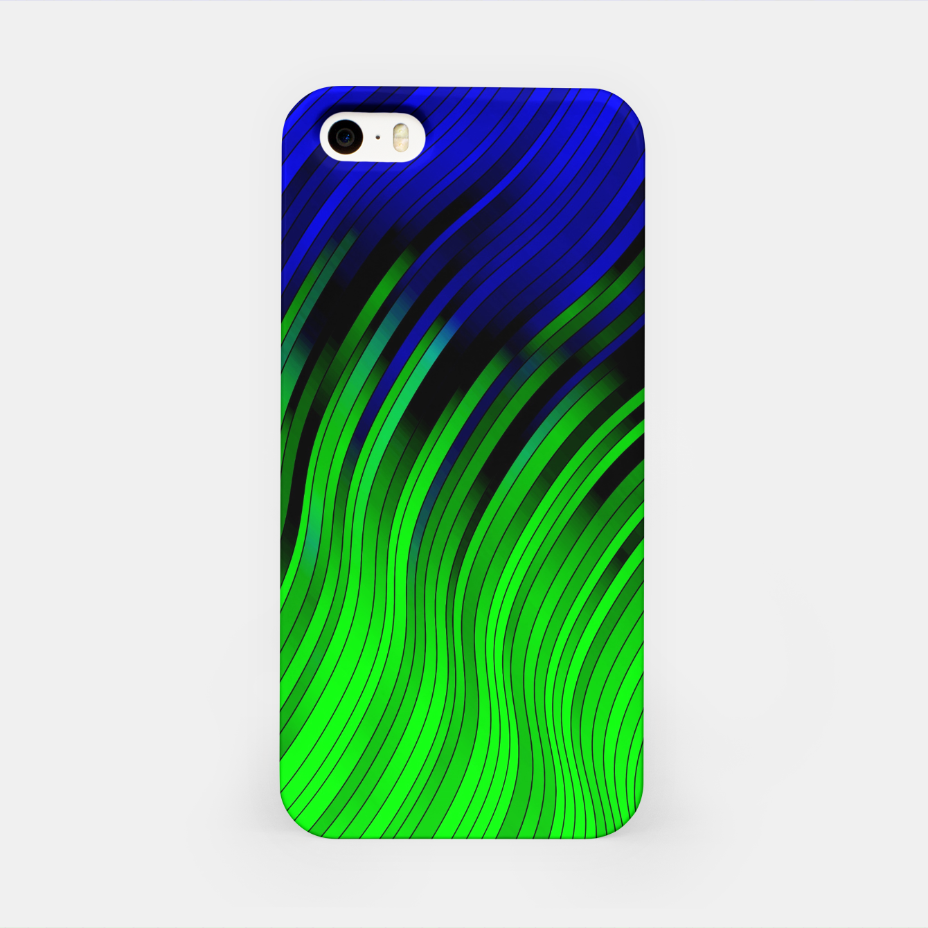 Foto stripes wave pattern 2 with lines vtgi iPhone Case - Live Heroes