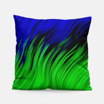 stripes wave pattern 2 with lines vtgi Pillow Bild der Miniatur