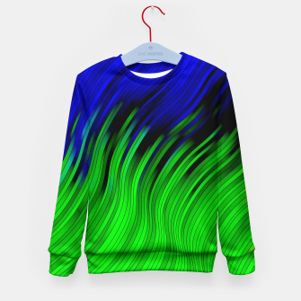 stripes wave pattern 2 with lines vtgi Kid's sweater Bild der Miniatur