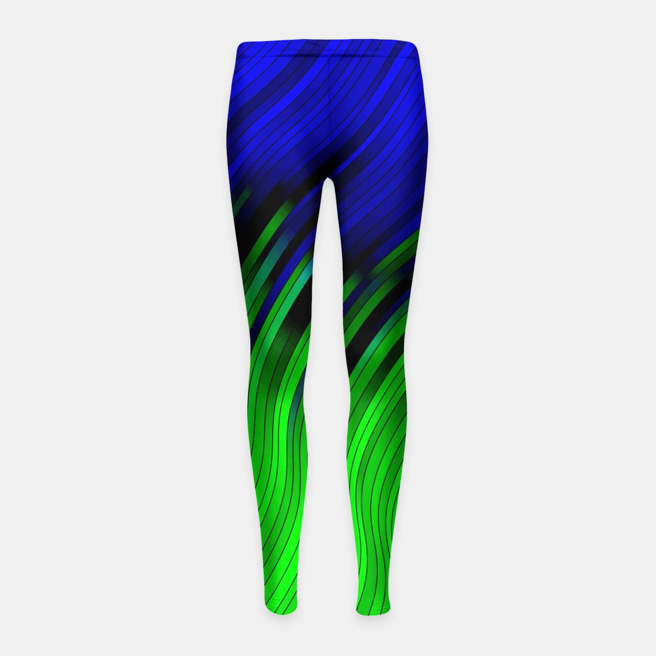 Foto stripes wave pattern 2 with lines vtgi Girl's leggings - Live Heroes