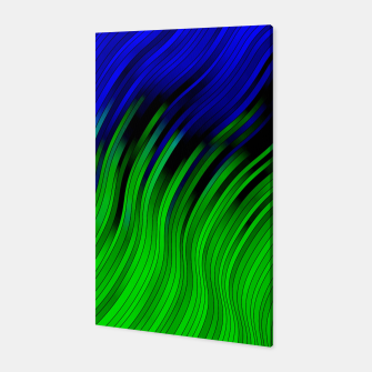 stripes wave pattern 2 with lines vtgi Canvas Bild der Miniatur