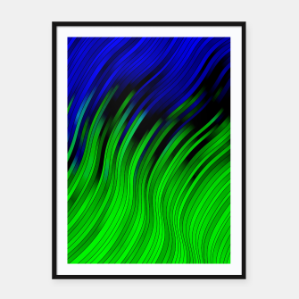 stripes wave pattern 2 with lines vtgi Framed poster Bild der Miniatur
