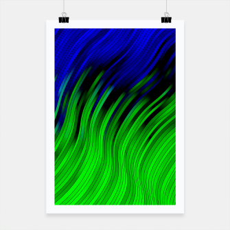stripes wave pattern 2 with lines vtgi Poster Bild der Miniatur