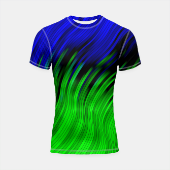 stripes wave pattern 2 with lines vtgi Shortsleeve rashguard Bild der Miniatur