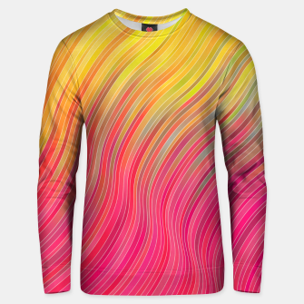 Miniatur stripes wave pattern 2 with lines vw81 Unisex sweater, Live Heroes
