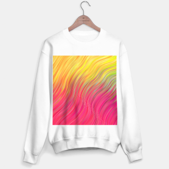 Miniatur stripes wave pattern 2 with lines vw81 Sweater regular, Live Heroes