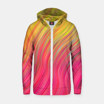 Miniature de image de stripes wave pattern 2 with lines vw81 Zip up hoodie, Live Heroes