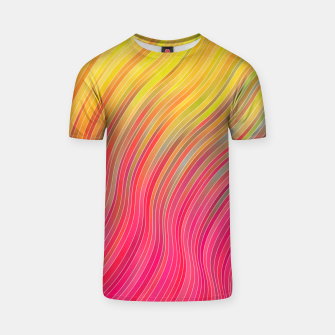 Miniatur stripes wave pattern 2 with lines vw81 T-shirt, Live Heroes