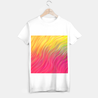 Miniatur stripes wave pattern 2 with lines vw81 T-shirt regular, Live Heroes