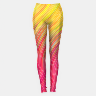 Miniature de image de stripes wave pattern 2 with lines vw81 Leggings, Live Heroes