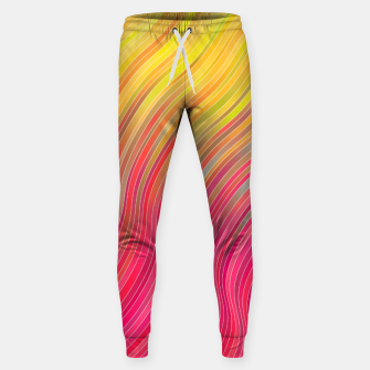 Miniature de image de stripes wave pattern 2 with lines vw81 Sweatpants, Live Heroes