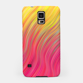 Miniatur stripes wave pattern 2 with lines vw81 Samsung Case, Live Heroes