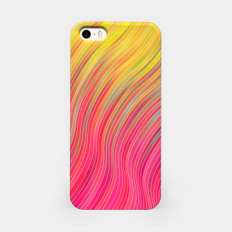 Miniatur stripes wave pattern 2 with lines vw81 iPhone Case, Live Heroes