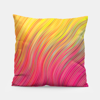 Miniatur stripes wave pattern 2 with lines vw81 Pillow, Live Heroes
