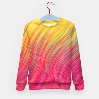 Miniatur stripes wave pattern 2 with lines vw81 Kid's sweater, Live Heroes