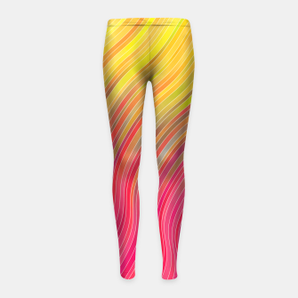 Miniature de image de stripes wave pattern 2 with lines vw81 Girl's leggings, Live Heroes