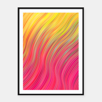 Miniatur stripes wave pattern 2 with lines vw81 Framed poster, Live Heroes
