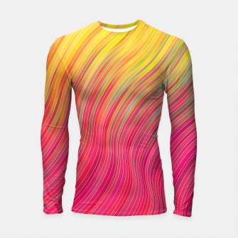 Miniature de image de stripes wave pattern 2 with lines vw81 Longsleeve rashguard , Live Heroes