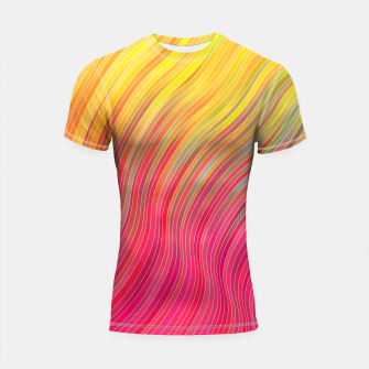 Miniature de image de stripes wave pattern 2 with lines vw81 Shortsleeve rashguard, Live Heroes