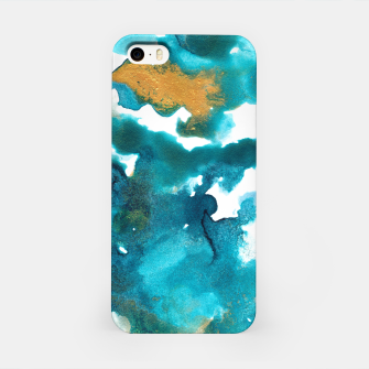 Miniaturka Aqua Teal Gold Abstract Painting #1 #ink #decor #art iPhone-Hülle, Live Heroes