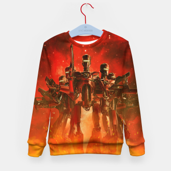 Thumbnail image of In The Heat Of Battle Kid's sweater, Live Heroes