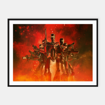 Thumbnail image of In The Heat Of Battle Framed poster, Live Heroes