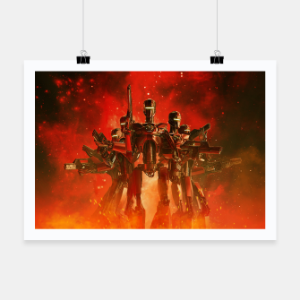 Thumbnail image of In The Heat Of Battle Poster, Live Heroes