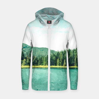 Thumbnail image of Forest Lake Zip up hoodie, Live Heroes