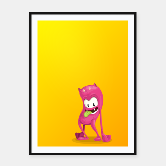 Thumbnail image of Pink Monster Framed poster, Live Heroes