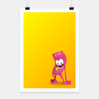 Thumbnail image of Pink Monster Poster, Live Heroes