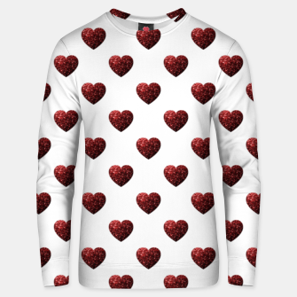 Thumbnail image of Sparkly Hearts Valentines Day pattern Unisex sweater, Live Heroes