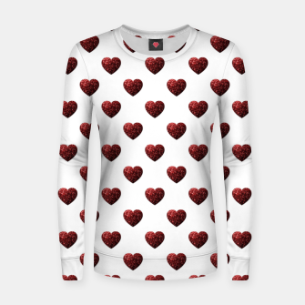 Thumbnail image of Sparkly Hearts Valentines Day pattern Women sweater, Live Heroes
