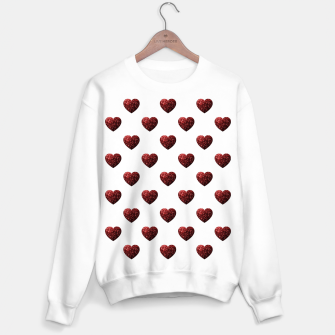 Thumbnail image of Sparkly Hearts Valentines Day pattern Sweater regular, Live Heroes