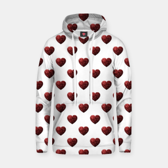 Thumbnail image of Sparkly Hearts Valentines Day pattern Hoodie, Live Heroes